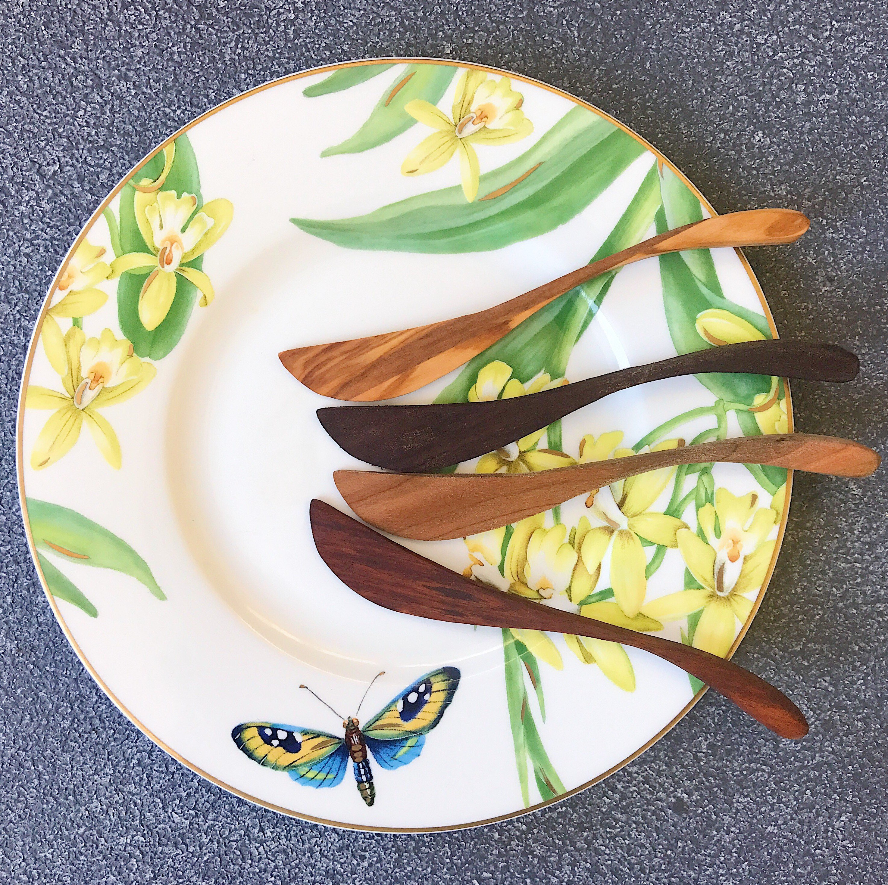 wooden spoons for food service