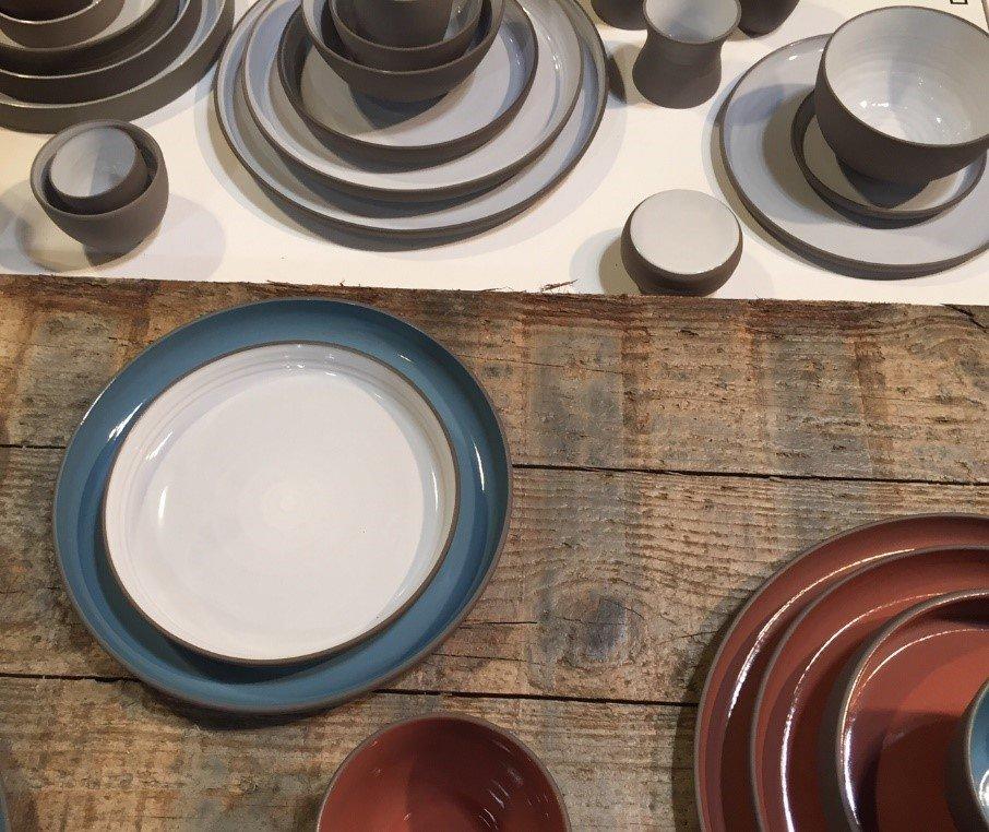 serax belgium blue plate and white plate
