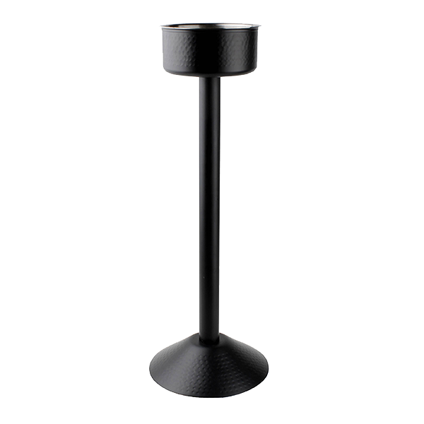 BAR NOIR WINE STAND 63 CM BLACK HAMMERED S/S EA