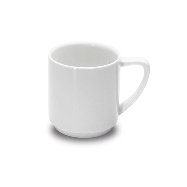 OSLO 1100 MUG STACKING 8-1/4OZ WHITE 6EA/CS