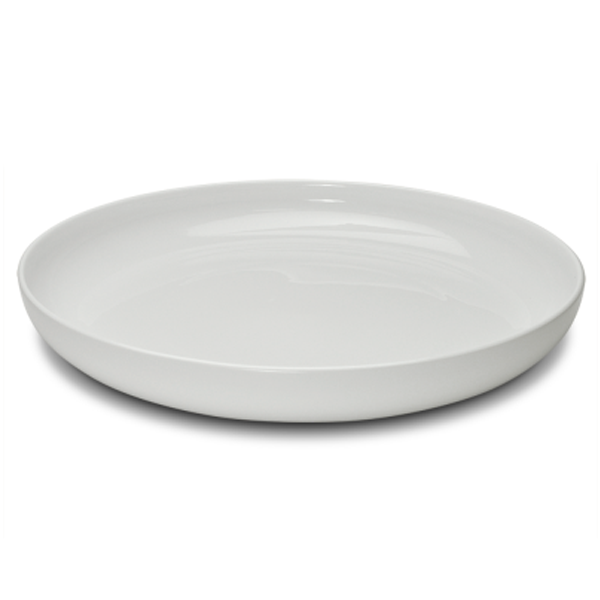 "KLASSIK TRAY HIGH EDGE ROUND WHITE 15 3/4""X2""H 1EA/CS"