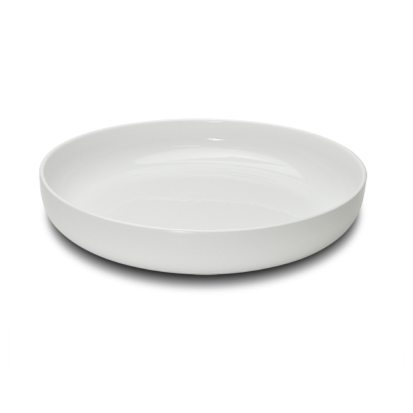 "KLASSIK TRAY HIGH EDGE ROUND WHITE 13 3/4""X2""H 1EA/CS"