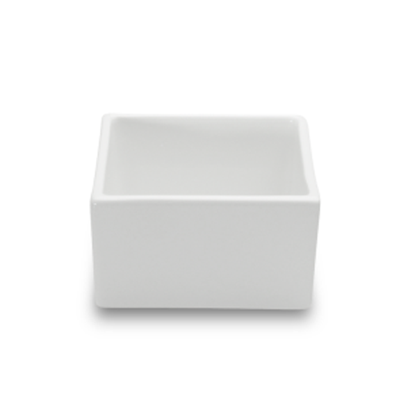 "BOKS BOWL 15OZ SQUARE WHITE 4 2/3""X4 2/3""X2 2/3""H 3EA/CS"
