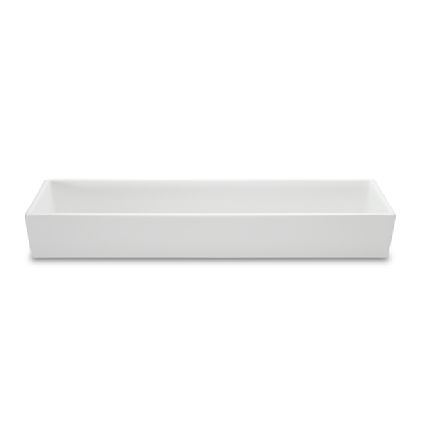 "BOKS BOWL 68OZ RECT WHITE 4 2/3""X17 2/3""X2 2/3""H 1EA/CS"
