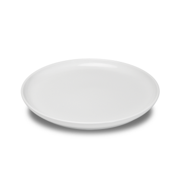"BASE PLATE 9"" ROUND WHITE 6EA/CS"