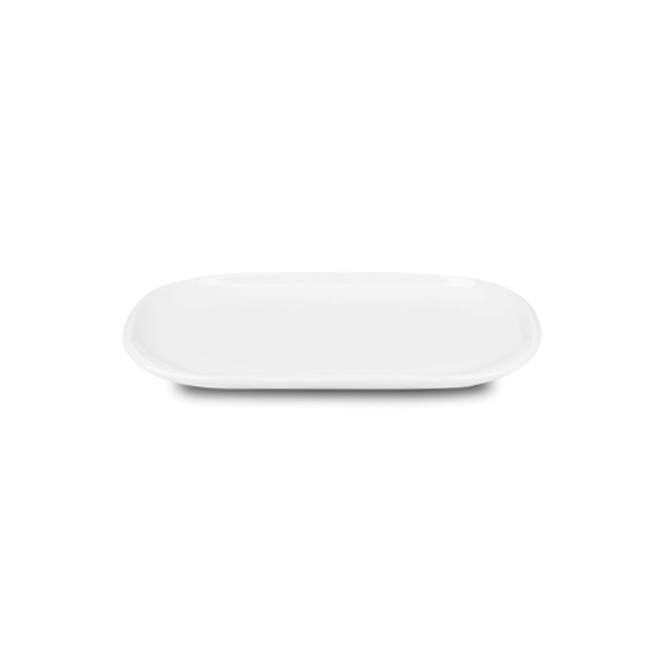 "PAX PLATE 8""X5"" ELONGATED OVAL WHITE 6EA/CS"