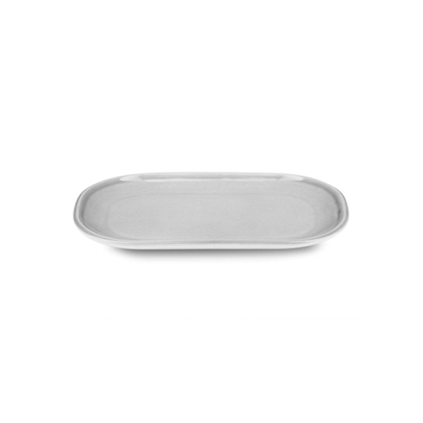 "PAX PLATE 8""X5"" ELONGATED OVAL GREY 6EA/CS"