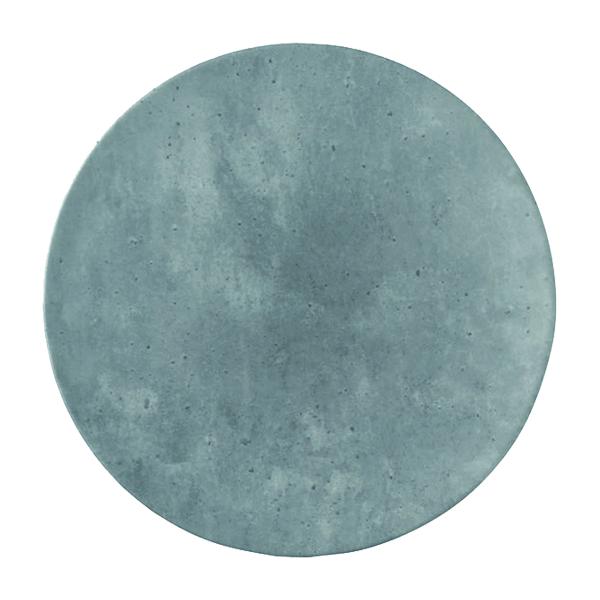 """CONCRETE PLATE 9.1"""" ROUND COUPE PORCELAIN 24EA/CS"""