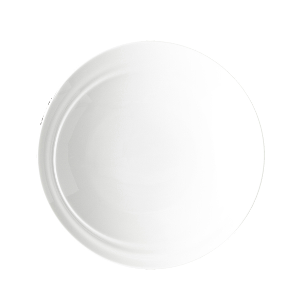 "CD SHIFT PLATE 8"" DEEP ANGLED ROUND WHITE 1DZ/CS"