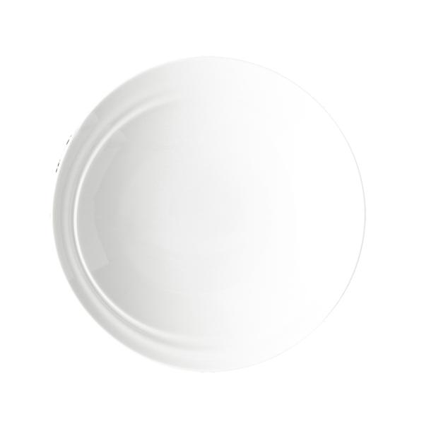 "CD SHIFT PLATE 8"" DEEP ANGLED ROUND WHITE 1DZ/CS"