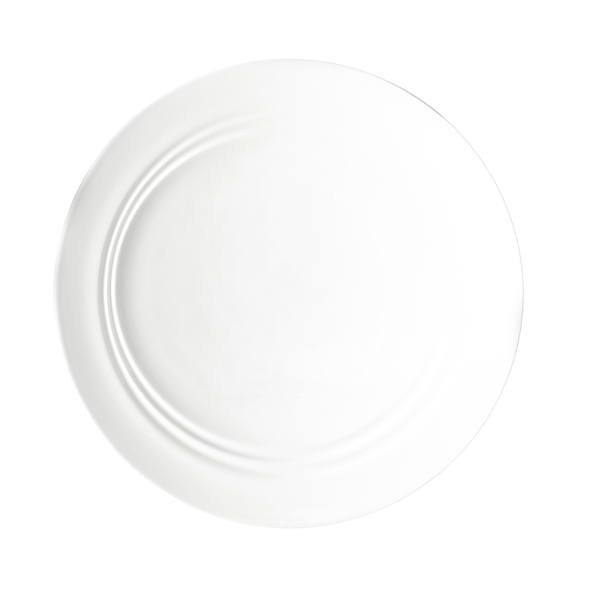 "CD SHIFT PLATE 10 1/2"" DEEP ANGLED ROUND WHITE 1DZ/CS"
