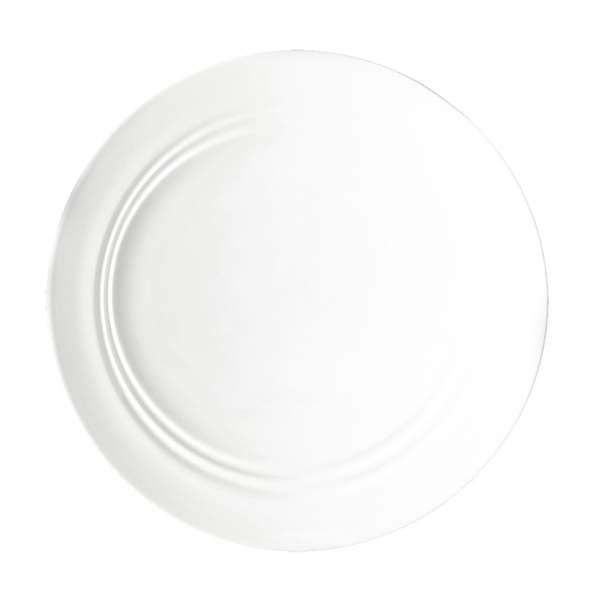 "CD SHIFT PLATE 12"" FLAT ANGLED ROUND WHITE 6EA/CS"