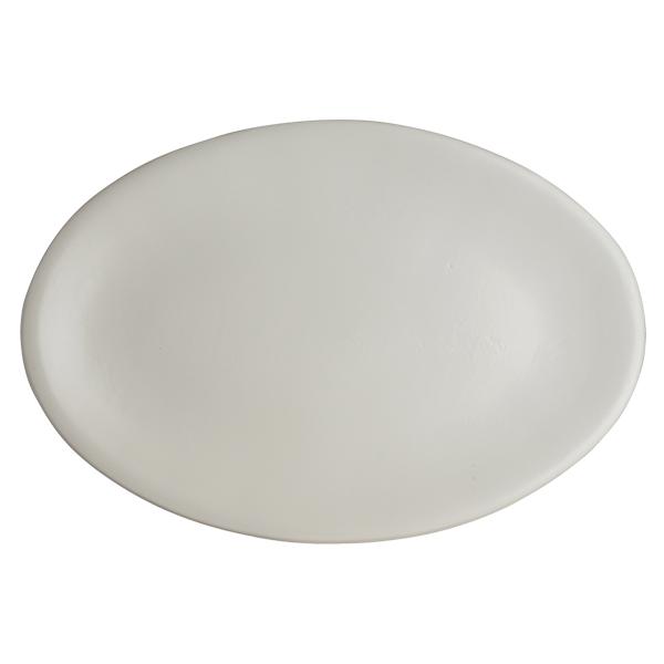 """CHENA MATTE WHITE OVAL PLATTER 15""""X10"""" 6EA/CS"""