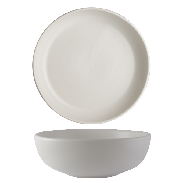 CHENA MATTE WHITE CAFE BOWL LARGE 52OZ 1DZ/CS