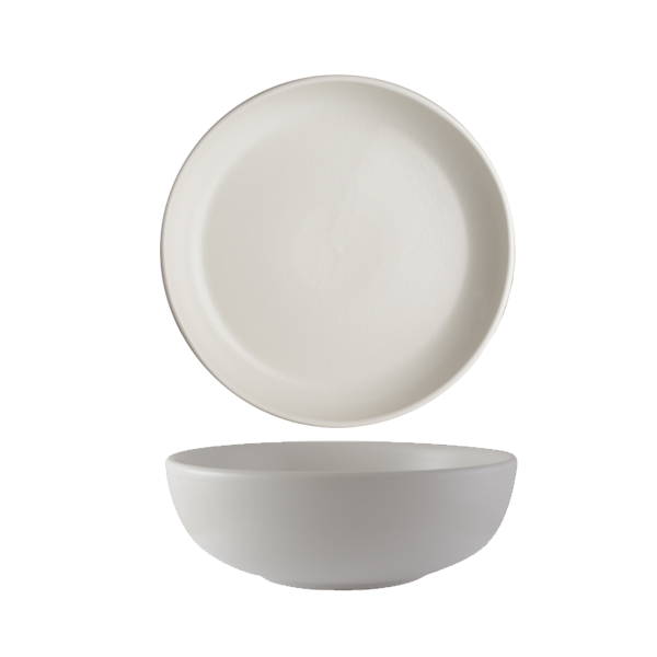 CHENA MATTE WHITE CAFE BOWL SMALL 38OZ 1DZ/CS