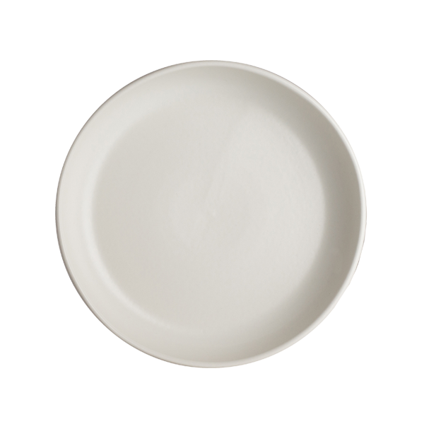 "CHENA MATTE WHITE SHALLOW BOWL 8"" 1DZ/CS"