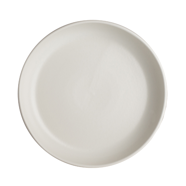 "CHENA MATTE WHITE SHALLOW BOWL 10.63"" 1DZ/CS"