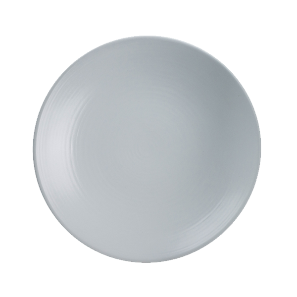 "CHENA MT WHITE EMBOSSED PLATE 9"" COUPE 1DZ/CS"