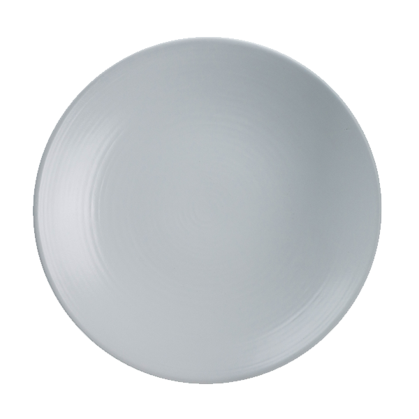 "CHENA MT WHITE EMBOSSED PLATE 10 3/4"" COUPE 1DZ/CS"