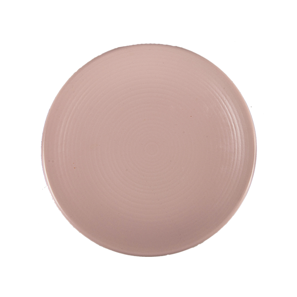 "CHENA MATTE PINK PLATE 7 1/2"" COUPE EMBOSSED 2DZ/CS"