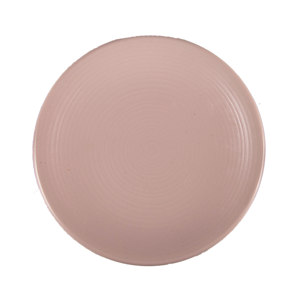 "CHENA MATTE PINK PLATE 9"" COUPE EMBOSSED 1DZ/CS"