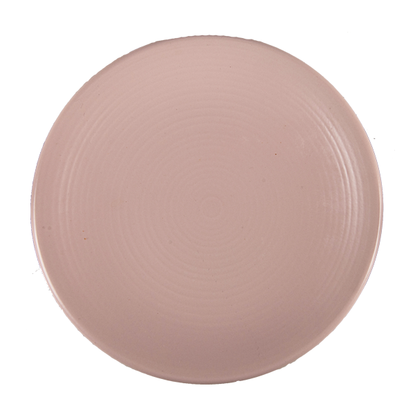 "CHENA MATTE PINK PLATE 10 3/4"" COUPE EMBOSSED 1DZ/CS"