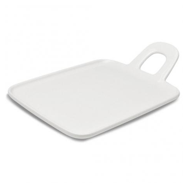 "BASE PLATE W/ HANDLE 7""X11"" RECT WHITE 6EA/CS"