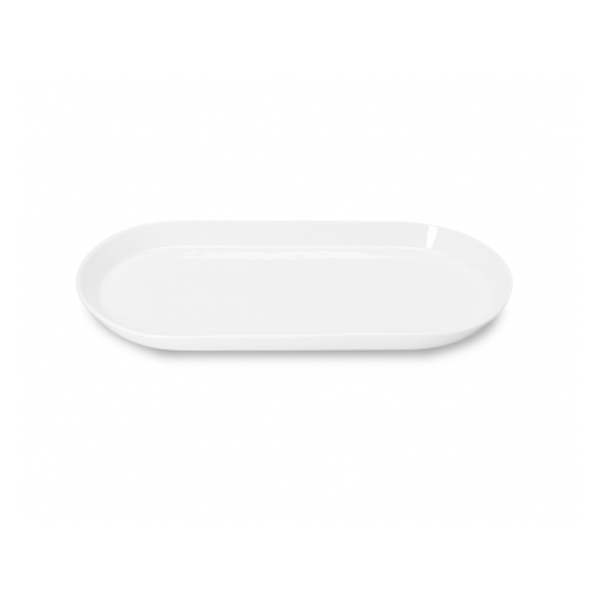"ARENA FORM LOW PLATTER 15 3/4"" X7 8/9""X1"" WHITE 3EA/CS"