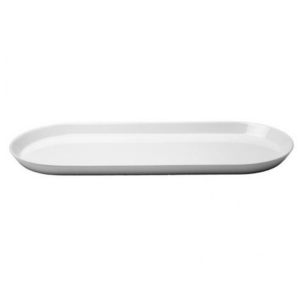 "ARENA FORM LOW PLATTER 20 8/9"" X8 2/3""X1"" WHITE 1EA/CS"