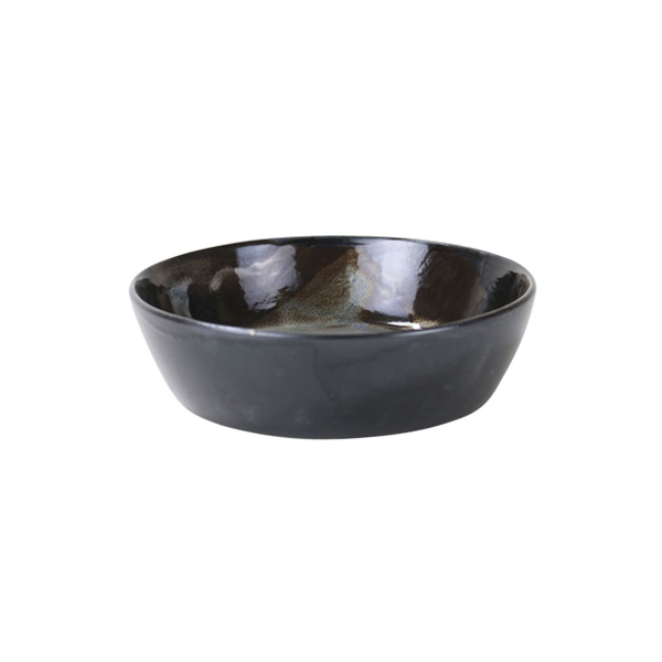 "CANVAS BOWL 7""X2""H BLACK OPAL STONEWARE 6EA/CS"