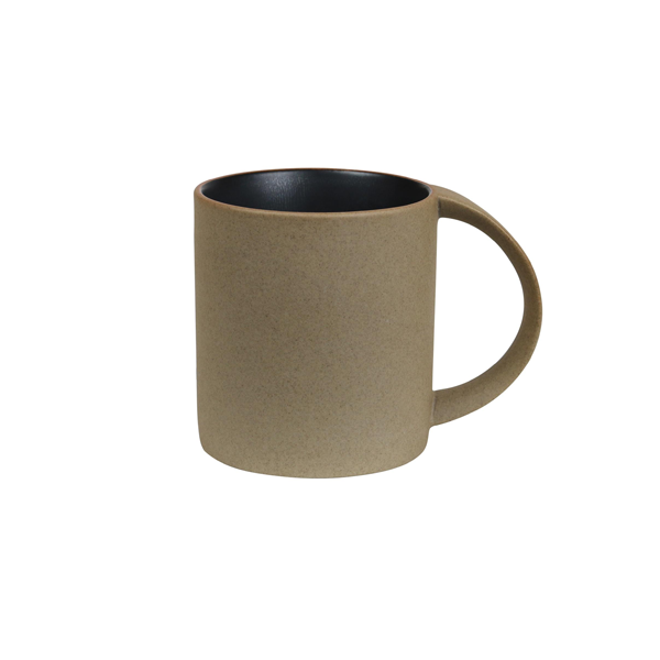 TERRAIN MUG 11 2/3 OZ BROWN SPECKLE / BLACK INTERIOR 12/CS