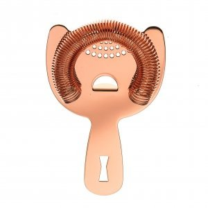SPRING STRAINER BARFLY COPPER PLATED 18/8 S/S 2 PRONG