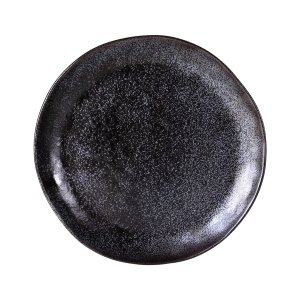 "EARTH BLACK DINNER PLATE 11"" 12EA/CS"