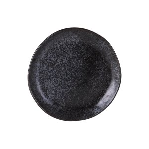 "EARTH BLACK SHARE PLATE 8.5"" 12EA/CS"