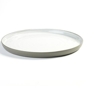 "DUSK SERVING PLATE 12.25""X 1.13"" SERAX GREY/WHITE 2EA/CS"