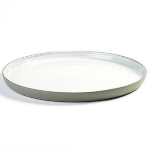 "DUSK SERVING PLATE 12.25""X 1.13"" SERAX GREY/WHITE 2EA/CS"