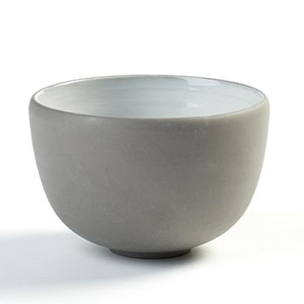 "DUSK BOWL 8OZ 3.75""X2.5"" SERAX GREY/WHITE 8EA/CS"
