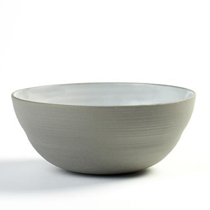 "DUSK BOWL 25OZ 5.88""X2.5"" SERAX GREY/WHITE 4EA/CS"