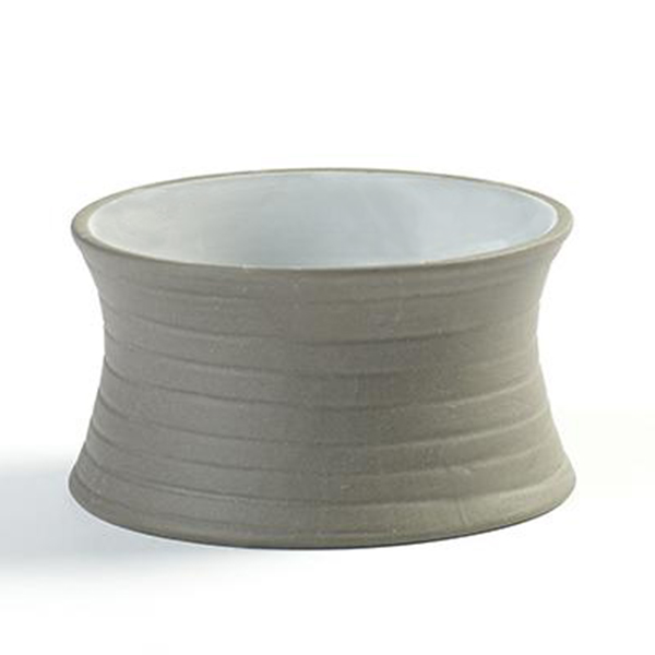 "DUSK BOWL 5OZ 3.5""X1.63"" DBL USE SERAX GREY/WHITE 12EA/CS"