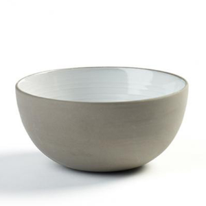 "DUSK BOWL 11OZ 4.5""X2.25"" SERAX GREY/WHITE 8EA/CS"