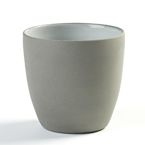 "DUSK COFFEE CUP 7.75OZ 3.13""X 3"" SERAX GREY/WHITE 6EA/CS"