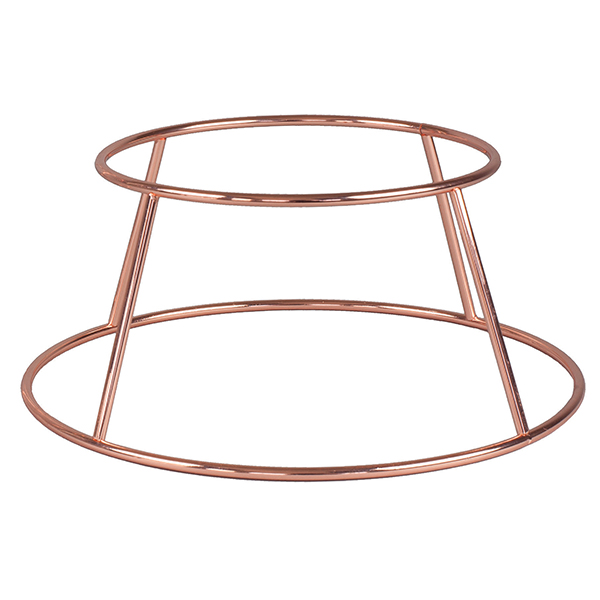 """SEAFOOD TRAY HOLDER 9.5X4""""H ROLLED EDGE SS COPPER"""