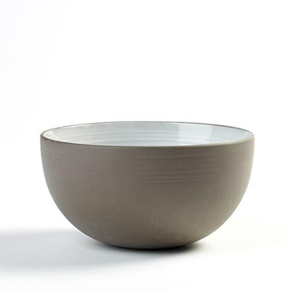 "DUSK BOWL 34OZ 5.5""X2.88"" SERAX GREY/WHITE 8EA/CS"