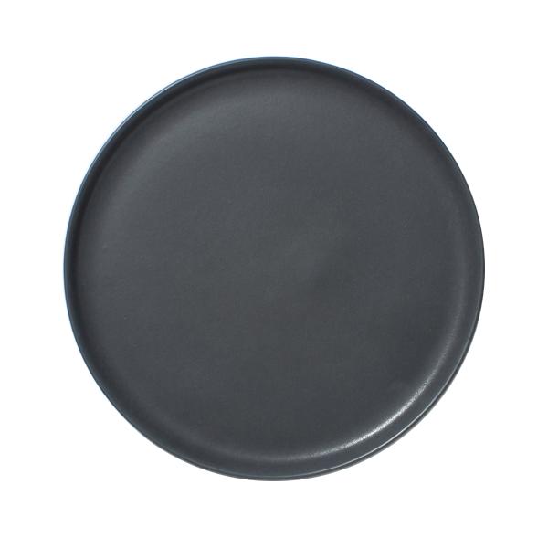 "DINNER PLATE 11X0.5"" LARGE SATIN MATTE GLAZE SLATE"