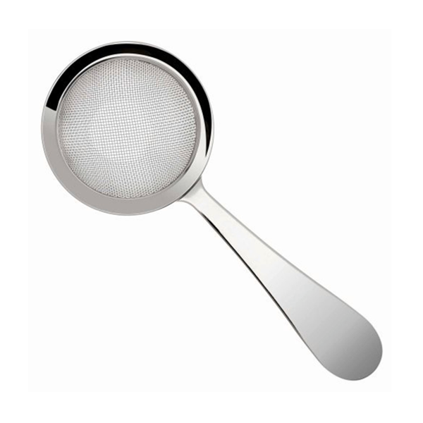 "BILOXI FINE COCKTAIL STRAINER 3 1/6"" BOWL FLAT HANDLE S/S"