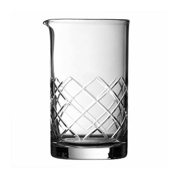 JAPANESE MIXING GLASS 23 2/3OZ CUT SODA-LIME DIAMOND SHAPE