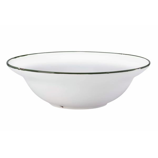 "TINTIN RIM SOUP BOWL 7 1/2"" 12 OZ BRITISH GREEN 1DZ/CS"