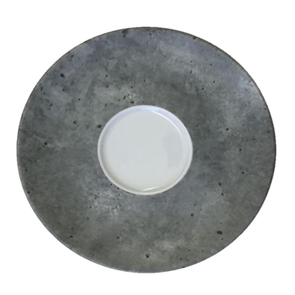 """Concrete Espresso Saucer, 4-7/10"""" diameter"""
