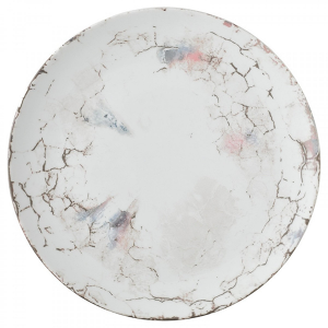 "Carrara Dinner Plate, 11"" diameter"