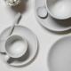 "Chena White Espresso Saucer, 4-7/8"" diameter"